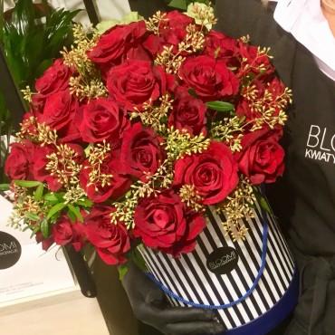 40 róż w boxie