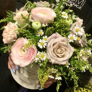 Flowerbox Bezowe róże