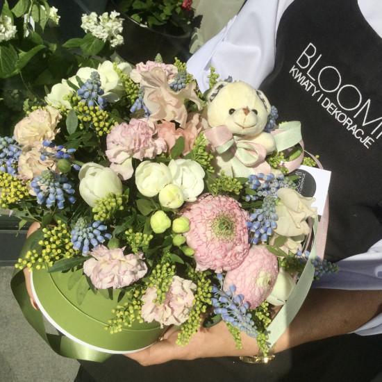 Kwiatowe pudełko Szafirowy zagajnik